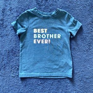 """Cat and Jack """"Best Brother Ever"""" T Shirt"""